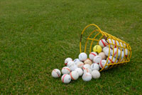 Large basket of range balls